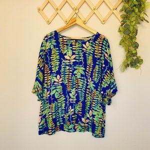 Willow Tree Sz L/XL Relaxed Fit Blouse